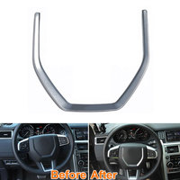 ABS Inner Decorative Steering Wheel Cover Trim Molding Frame Decoration For 2015 Discovery Sport Car Styling