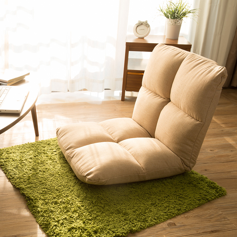 Home Furniture Living Room Furniture Floor Leather Chair 360 Degree Swivel Beige Sofa Living Room Furniture Japanese Meditation Backrest Legless Tatami Zaisu Chair