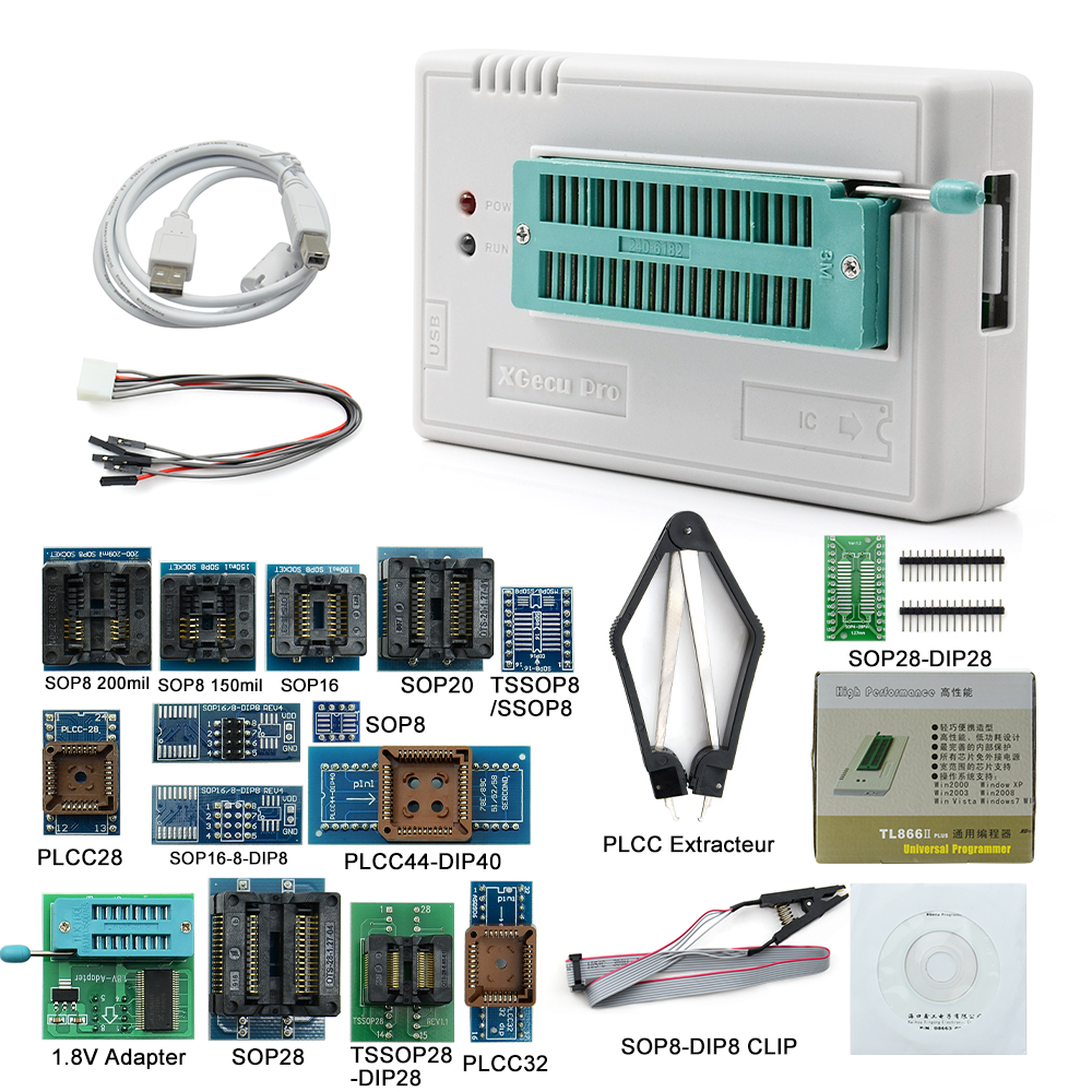 2019 Sinstar nowa wersja V8.51 TL866II Plus oryginalny Minipro programista TL866II z 17 IC adaptery wysokiej jakości w Kalkulatory od Komputer i biuro na AliExpress - 11.11_Double 11Singles' Day 1