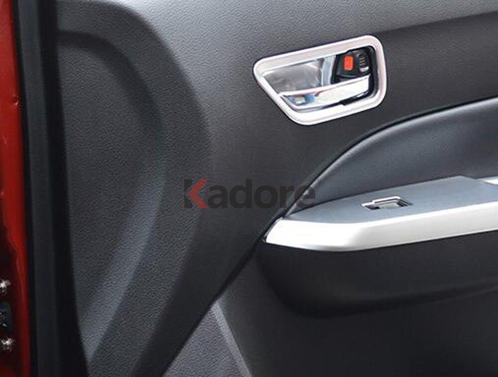 Matte Interior Door Armrest Cover Trim for Suzuki Vitara Escudo 2015 2016 2017