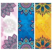 New Printing Collapsible Yoga Mat Towel Sport Fitness for Gym Pilates Workout Portable Non-slip Slimming Exercise Soft Towel