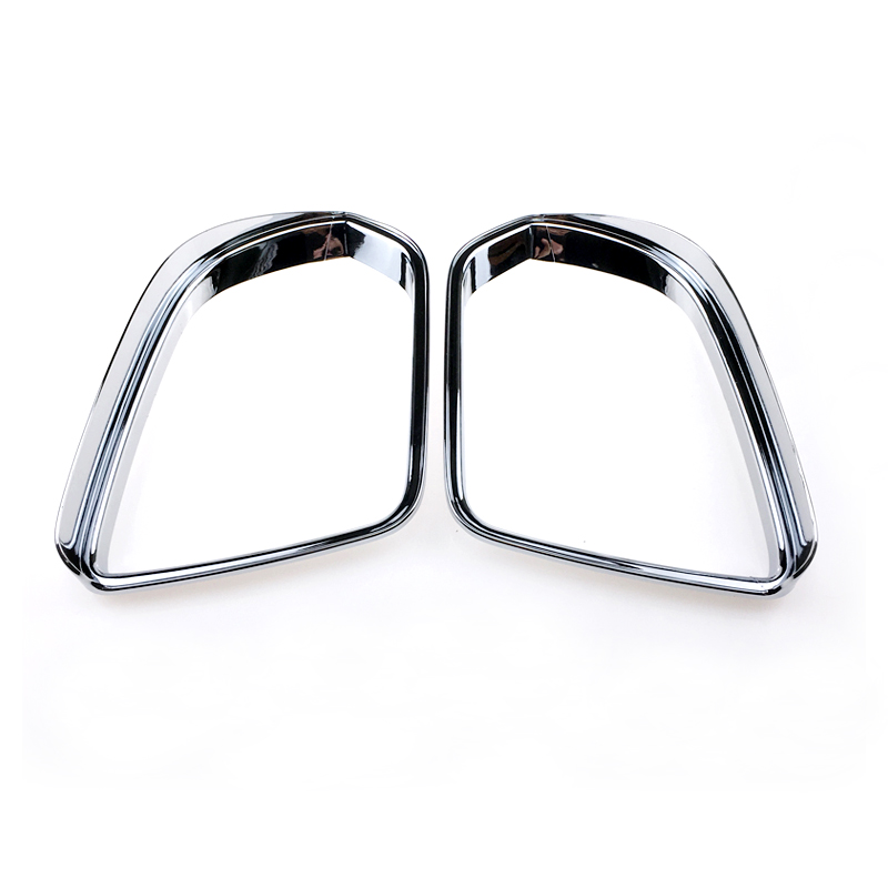 For Mercedes-Benz Vito (W447)  2014-2018  2016 2017  ABS Chrome Tail Rear Mirror Rainproof Cover Sun Visor Frame Cover 2pcs