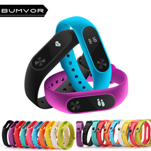 BUMVOR NEW Smart Accessories for Mi Band 2 Strap Silicone Replacement Bracelet Xiaomi Colorful Wrist