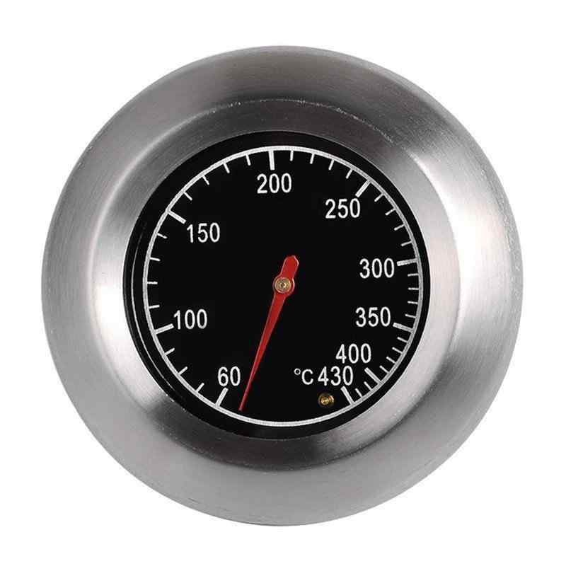 Luoem 7.6cm ao ar livre de aço inoxidável churrasco forno termômetro medidor temp oval dado forma churrasco termômetro controlador ao ar livre