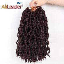 AliLeader Faux locs Curly вязаные косички 12 18 дюймов мягкие натуральные черные 99J синтетические волосы для наращивания 20 стендов/P искусственные замки волосы