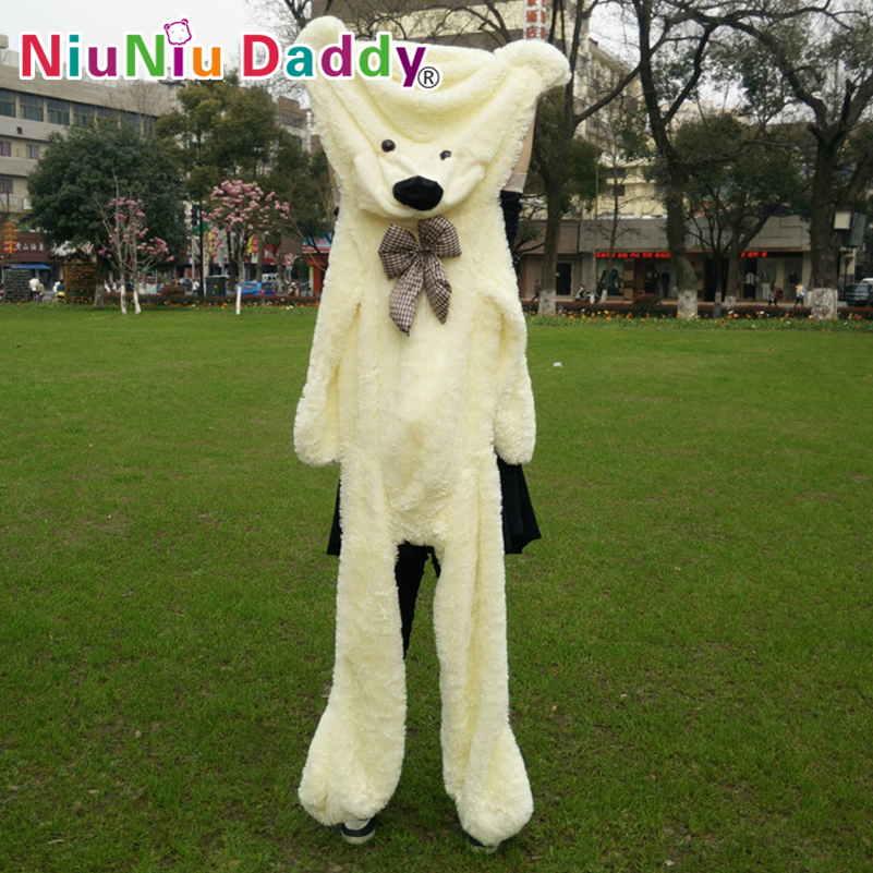 Niuniu Daddy200cm/79 inch,Big Plush toys,Semi-finished bear, Plush Bear Skin,plush teddy bear skin,Free Shipping наушники denon ah c260 silver