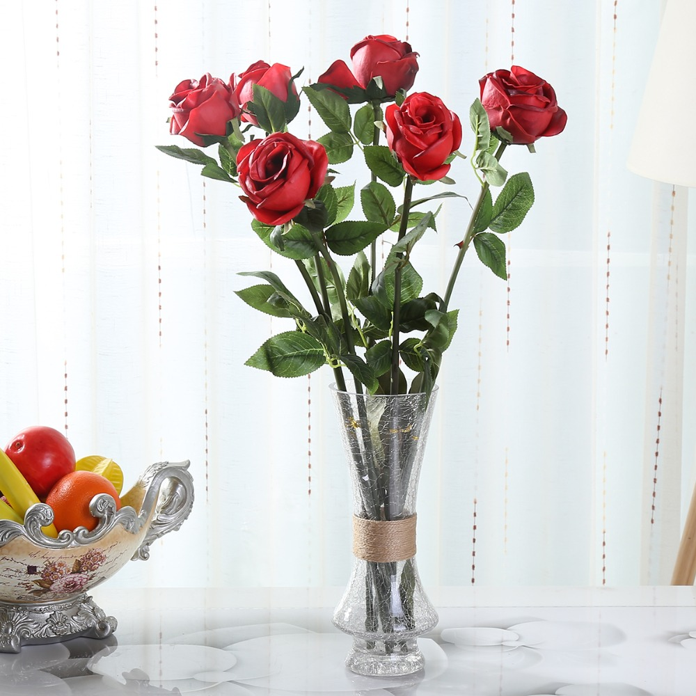 248pu Roses Wholesale Cheap Real Touch Artificial Flowers 6