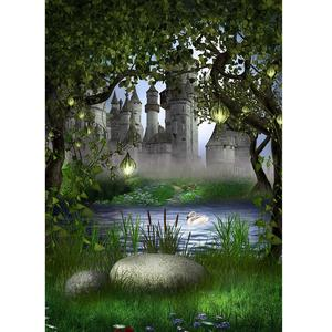 Image 2 - יער טירת אגם אגדות צילום תפאורות ויניל בד רקע תמונה סטודיו ילדי תינוק מקלחת Photophone