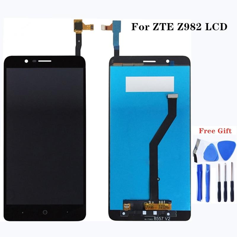 Для zte max лезвия З Max Z982 ЖК дисплей + сенсорный экран мобильной связи аксессуары 100% заменен планшетный тест работы компонентов-in ЖК-экраны для мобильного телефона from Мобильные телефоны и телекоммуникации