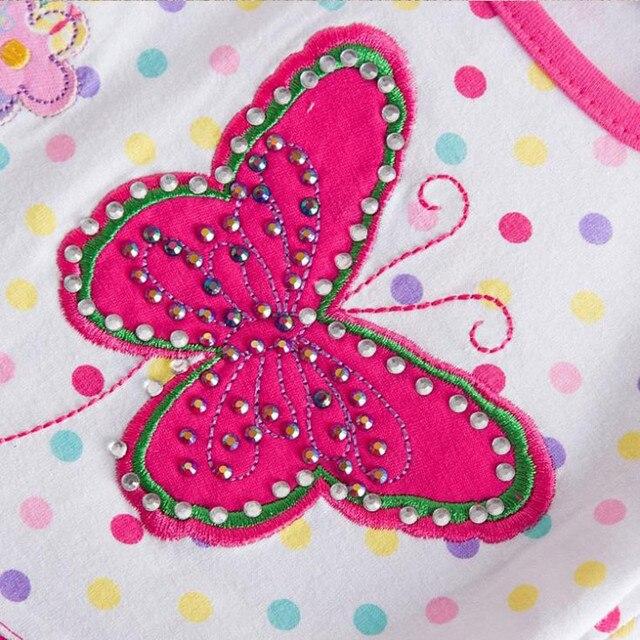 Girl T-shirt Summer Butterfly Color Dot Print Sunflower Pattern Cute Girl Clothes Round Collar Cotton Child T-Shirt S2132