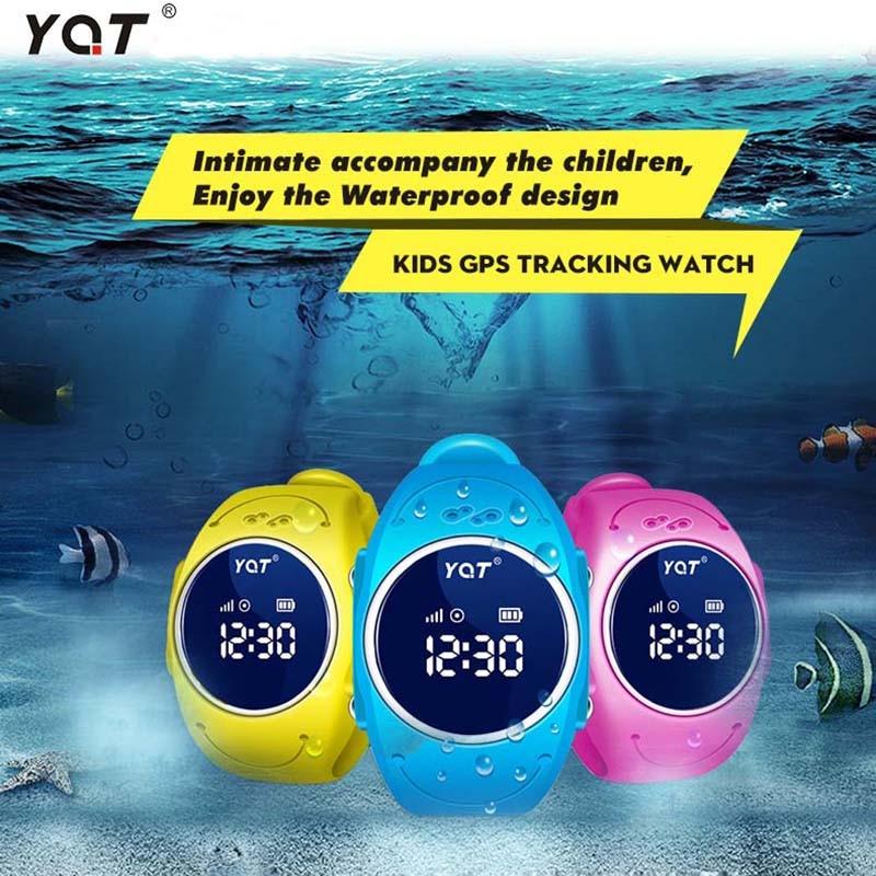 YQT IP68 Super Waterproof Kid GPS font b watch b font Tracker font b Watch b