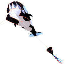 Profesjonalny Power 3D Cartoon Whale Software Kite / Animal Kites Pojedyncza linia z ciągiem Dobry Flying