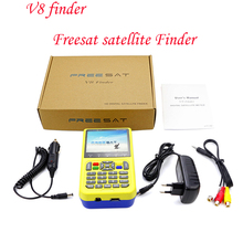 Freesat V8 Finder DVB-S2 FTA Numérique Satellite Mètre MPEG-4 Haute définition DVB S2 Satellite Finder Plein 1080 P HD livraison rapide le bateau