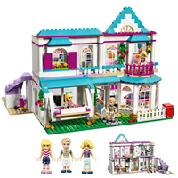 622pcs Stephanie's House Compatible Friends Girl Hotel Model Building Blocks Bricks Girls Birthday Gift Children Toys