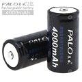 PALO 2 stücke 4000 mAh 1 2 V C/Größe Ni mh akku mit Überstromschutz für Haushalt taschenlampe/Wasser Heizung-in Wiederaufladbare Batterien aus Verbraucherelektronik bei