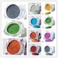 1 Caja de 1g Láser Holográfica Holo Del Brillo Del Polvo de Uñas de Manicura Glitter Rainbow Pigmentos de Cromo 8 Colores