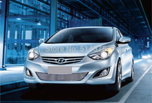 for Hyundai Elantra 2012 2013 2014 High quality stainless steel Front Grille Around Trim Racing Grills Trim