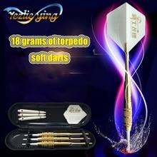 3PCS Yellow  Professional Darts 18g Safty Soft Electronic Tip Dardos For Indoor Dartboard Games
