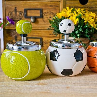 Home Supplies push creative fashion ashtray ceramic ashtray ball