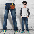 Winter Jeans For Children 2015 New Elastic Waist Boys Pants Skinny Famous Brand  Trousers Larger Size Winter Jeans For Children