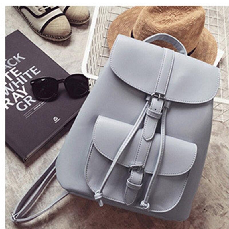 NIBESSER Trendy Female Drawstring PU Leather Backpacks Teenage Girls Small School Bags Women High Quality Casual Rucksack