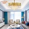 Moderne Kronleuchter Kristall Beleuchtung LED Kronleuchter Licht Glanz de Cristal Anhänger Hängen Lampe Wohnzimmer Esszimmer Beleuchtung