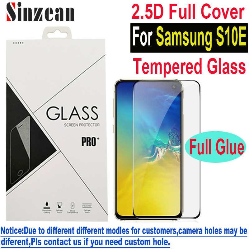 Sinzean 50pcs For Samsung S10E Full covered tempered glass For Galaxy S10 lite 2 5D Full