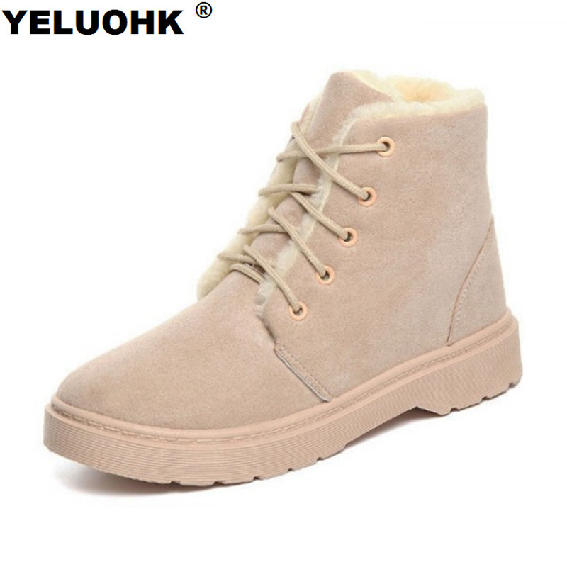 Fashion Women Boots 2017 Casual Shoes For Winter Women Warm Ankle Boots Female Winter Plush Snow Boots Ladies Shoes camel winter women boots 2015 new shoes retro elegance sheepskin fashion casual ladies boots warm women s boots a53827612