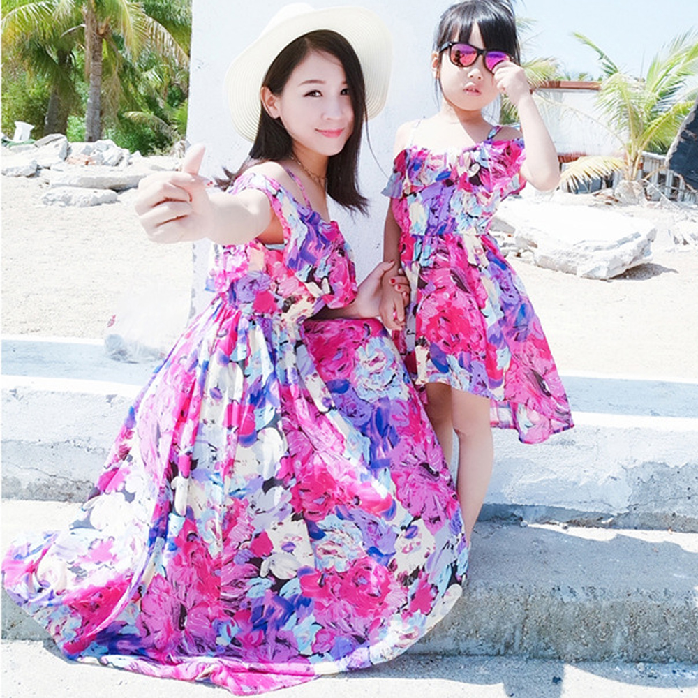 0472d81f7 Fashion Mother Daughter Dress Long Happy Family Matching Dresses Father Son  Short Pant Set Mother Son Clothing Father Daughter