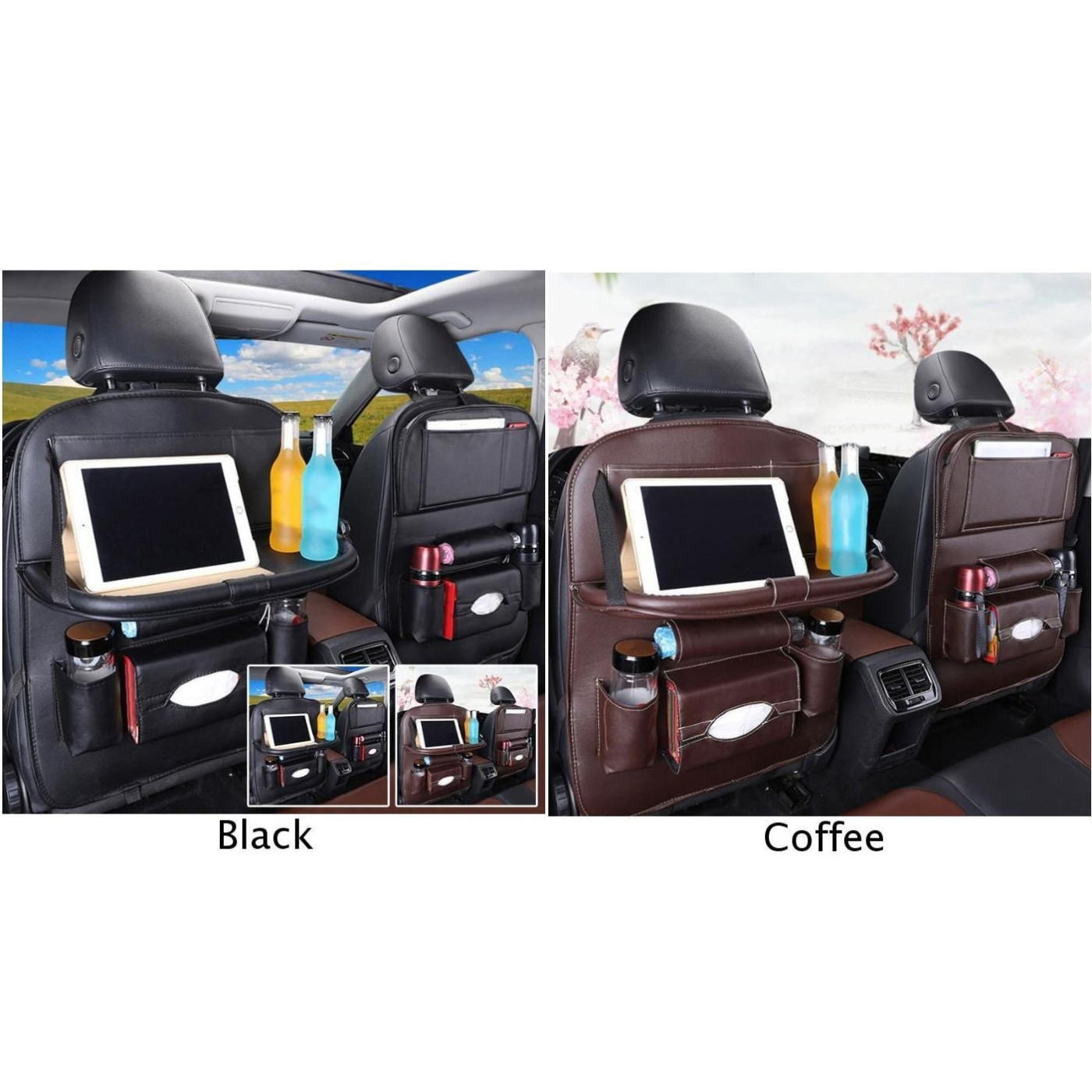 Image 5 - Car Back Seat Organiser Folding Table Tablet Drinks Laptop Holder Storage Gifts-in Stowing Tidying from Automobiles & Motorcycles