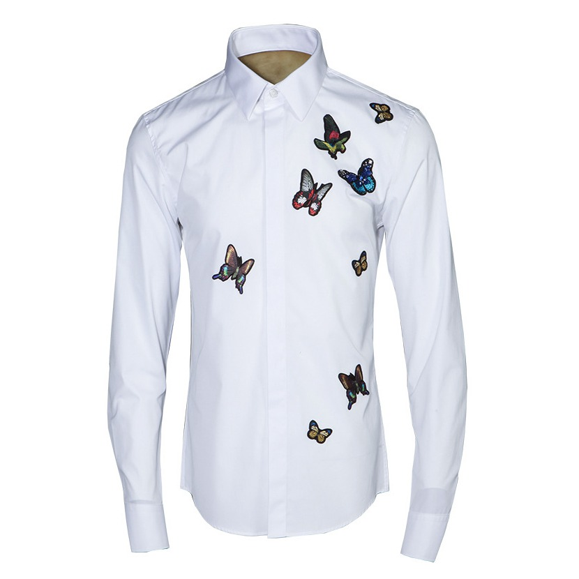 Fashion Men's Designer Shirts Dress Shirt Unisex Butterfly