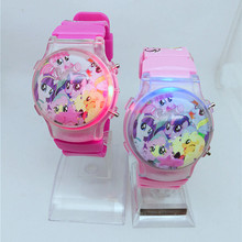 2019 fashion cute children cartoon pony silicone doll watch