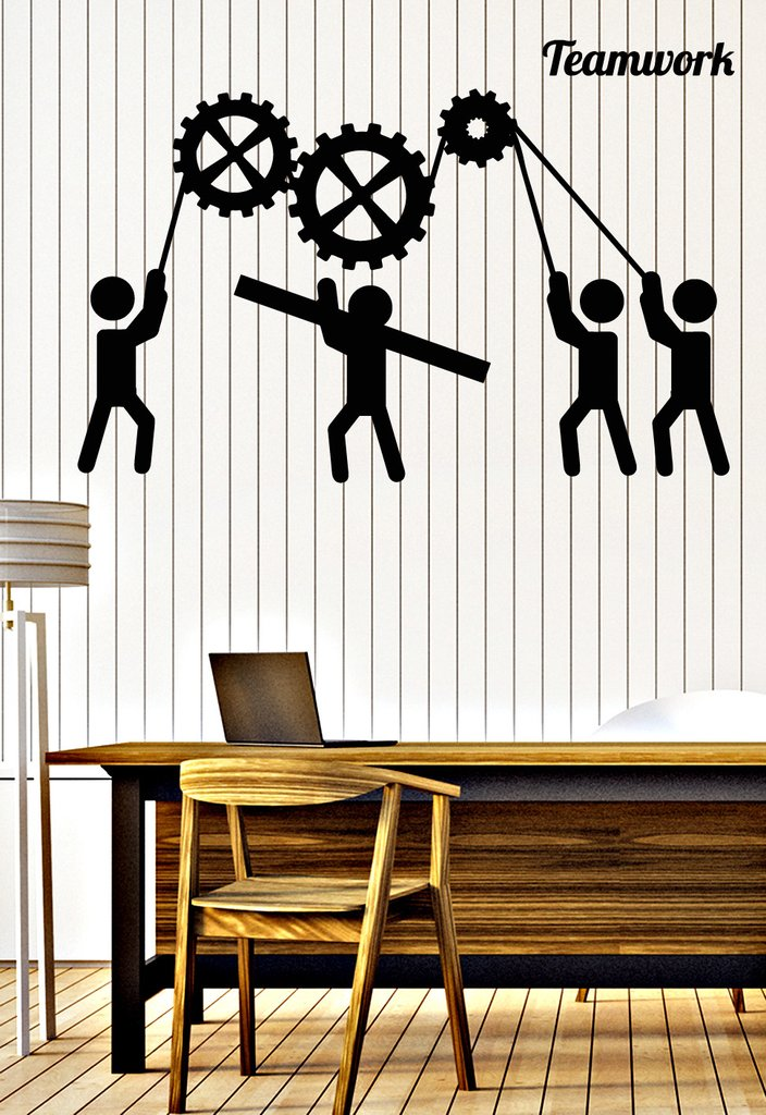 Teamwork Vinyl Wall Stickers For Office Removable Interior Decorate Wall Decals Living Room adesivo de parede Art Sticker ZB035
