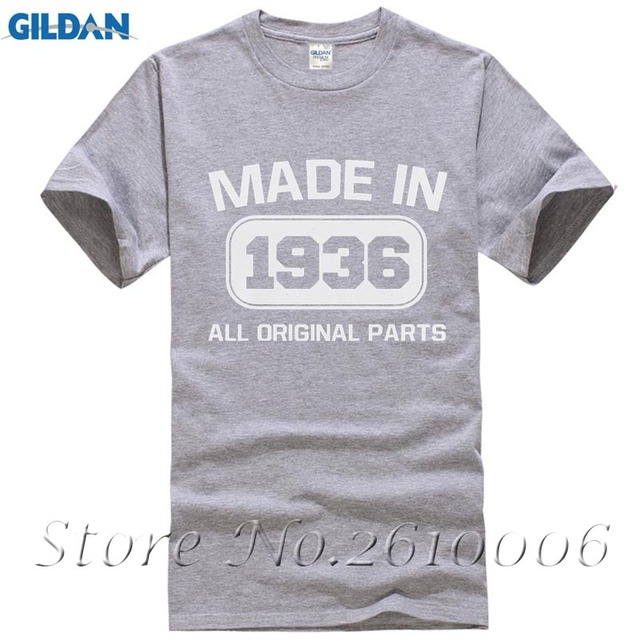 80th Birthday Gift Made In 1936 All Original Parts T Shirt Funny