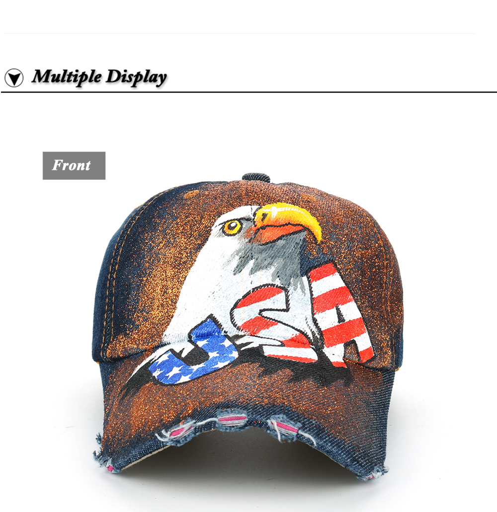 0b613ae07db JOYMAY Brand For Man And Woman New American Flag Painted Eagle ...