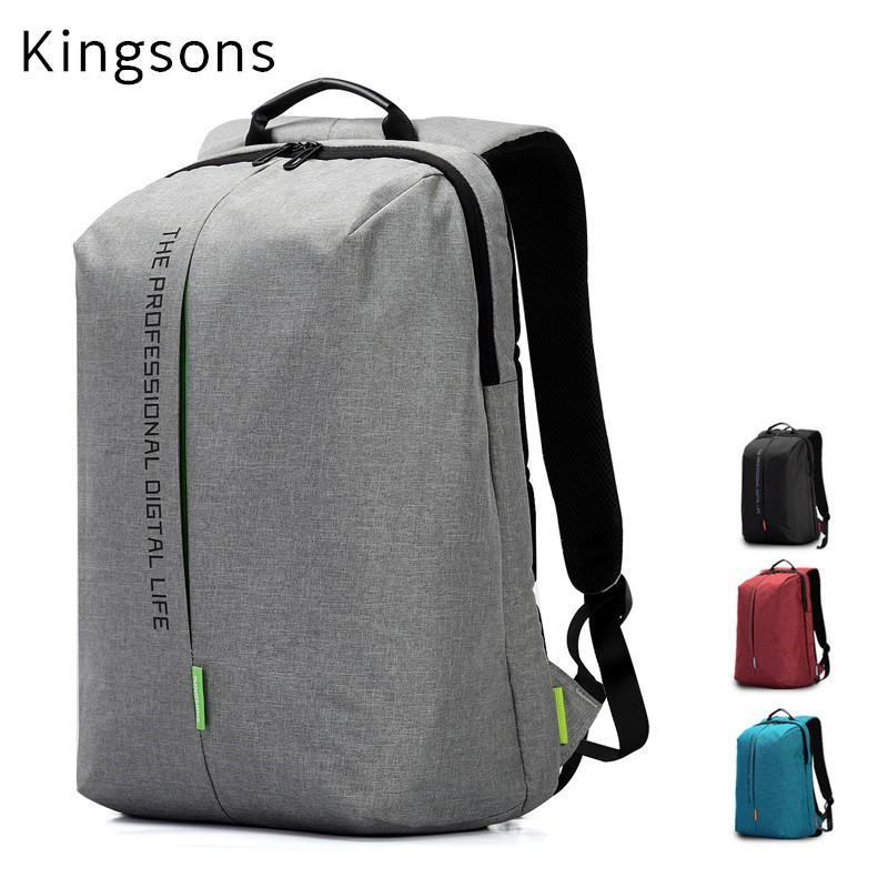 Hot Kingsons Brand Bag,Backpack For Laptop 15,15.6,Notebook 14,Compute Bag,Travel,Business,Office Worker,Free Drop Shipping new hot brand canvas backpack bag for laptop 1113 inch travel business office worker bag school pack free drop shipping 1133