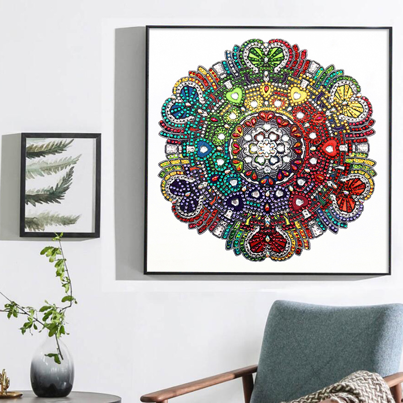 RUBOS DIY 5D Diamond Embroidery Mandala Sun Triptych Diamond Painting Multi Picture Rhinestones Pearl Big Mosaic Sale Wall Decor (42)