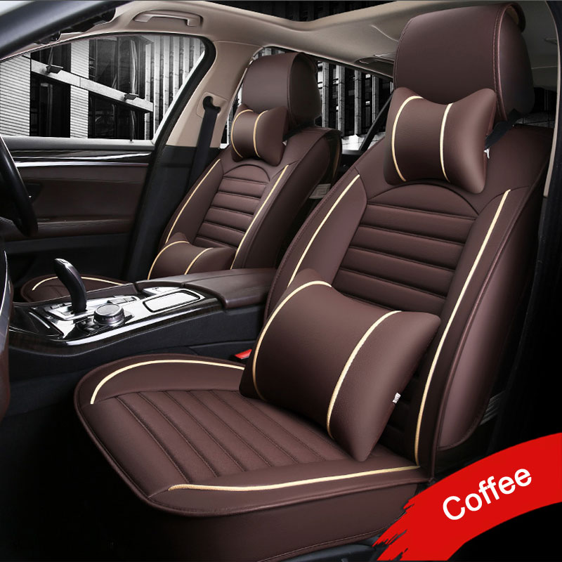 LUNDA Leather PU car seat covers For Toyota RAV4 PRADO Highlander COROLLA Camry Prius Reiz CROWN yaris car accessories styling наклейки for toyota 2015 toyota toyota corolla vios reiz jiamei camry yaris rav4