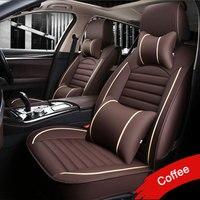 LUNDA Leather PU car seat covers For Toyota RAV4 PRADO Highlander COROLLA Camry Prius Reiz CROWN yaris car accessories styling