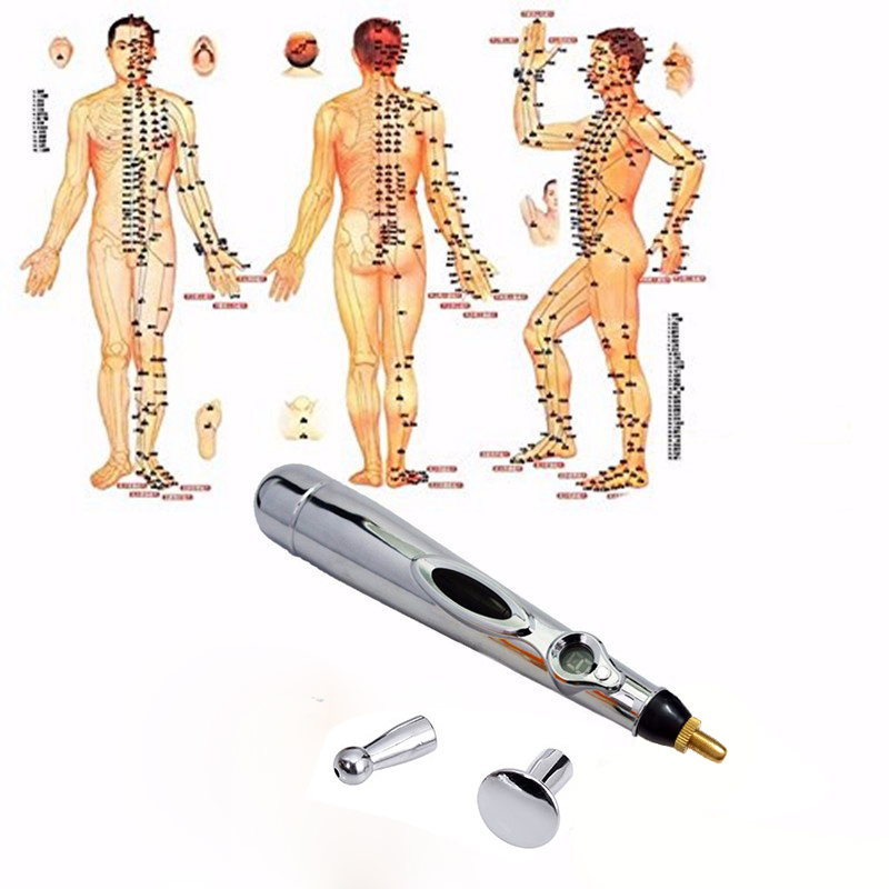 Health care monitor Electric meridians Laser Acupuncture Magnet Therapy instrument Heal Massage Meridian Energy Pen massager meridian energy acupuncture pen laser