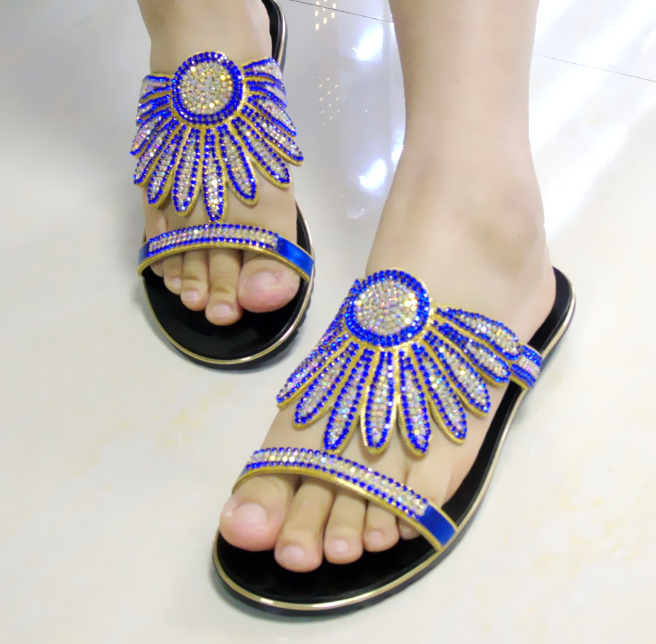 ФОТО Summer new Roman flat sandals Bohemia national wind metal beads for women's shoes in Europe and the beach shoes