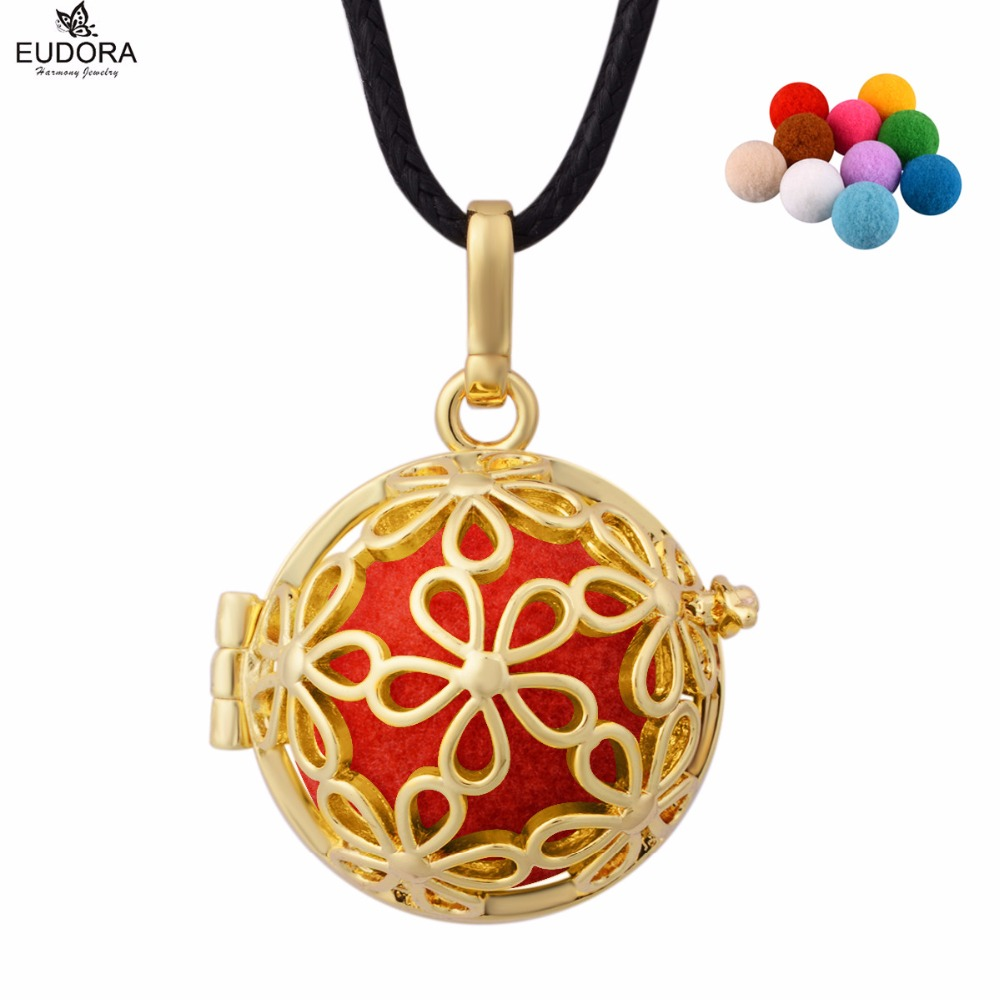 Daisy flower gold color aromatherapy perfume diffuser locket daisy flower gold color aromatherapy perfume diffuser locket cage pendant necklace jewelry gift with colorful pompon ball izmirmasajfo
