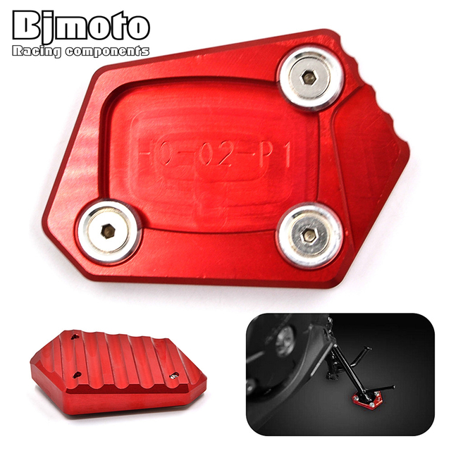 SSE-HD001 CNC Kickstand Foot Side Stand Enlarge Extension Pad Support Plate For Honda CBR 600RR 650F 600F 500R 250R 250F CB500F