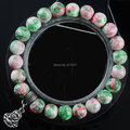 "Free shipping 8mm Turquoise stone Round Beads Charm Buddha Stretchy Bracelet 7"" for Women Bring Good Luck Bangle Jewelry TK1933"