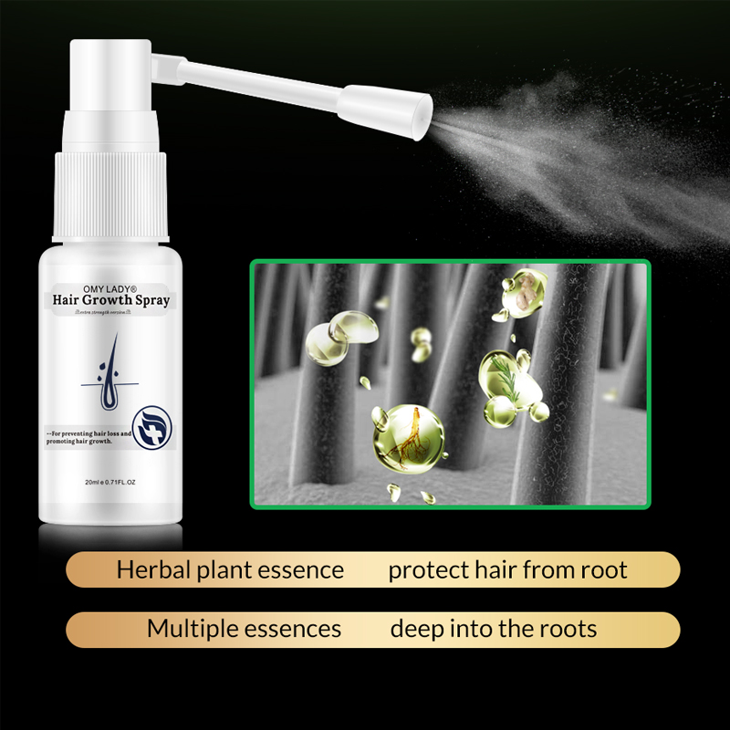 OMYLADY Anti Hair Loss Liquid Hair Growth Spray Essential Oil For Dry Hair Regeneration Repair Moisturizing Hair Care Products