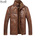 high quality 2016 winter men leather Jacket men's warm Motorcycle leather jackets coat jaqueta chaqueta hombre