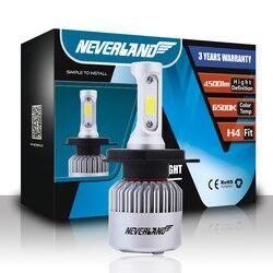NEVERLAND H4 светодиодный мотоцикл лампа фары 4500LM 36 Вт Hi/Lo Conversion Kit 6500 К мотоцикл налобный фонарь