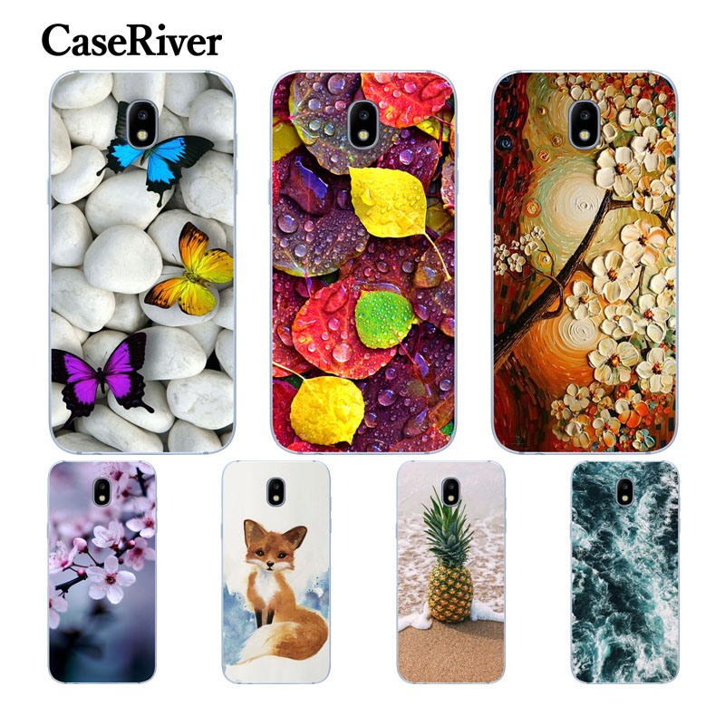 CaseRiver FOR Coque Samsung J3 2017 Case Cover J330F Soft TPU Printed Back Protective FOR Funda Samsung Galaxy J3 2017 Case
