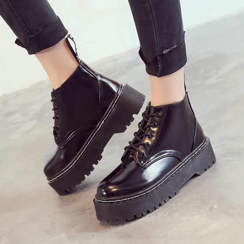AIYUQI 2020 sonbahar yeni kadın Martin çizmeler avrupa ve amerika birleşik devletleri tendon kalın kadın kısa çizmeler sıcak bayan ayakkabıları