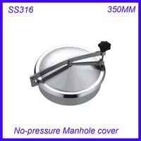 Новое поступление 350 мм SS316L круговой крышка люка нет давления круглый бак люка двери Высота: 100 мм